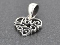 Herz Love Anhänger Silber Gothic Schmuck - NEU