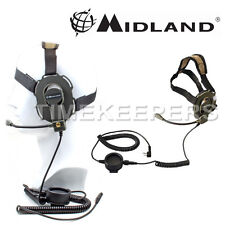 Midland Bow-M EVO Military Style Headset for 2 Pin Radios - Air soft & Paintball