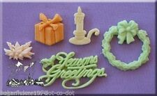 Alphabet Moulds  Seasons Greetings cupcake Sugarcraft Christmas Mould  FAST POST