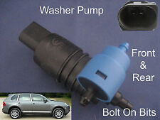 Front & Rear Windscreen Washer Pump  Fits Porsche Cayenne 2003 through to 2009