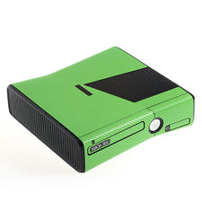 Textured Green Carbon Fibre XBOX 360 Slim decal skin sticker cover wrap
