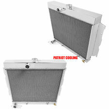 1965-1966 Plymouth Valiant/Signet V8 Only Aluminum 2 Row CHAMPION Radiator