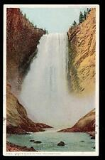 c1917 Lower Falls Yellowstone National Park landscape postcard