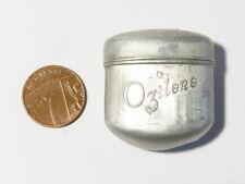 More details for antique ozilene smelling sniff aluminium oval empty tin chemist