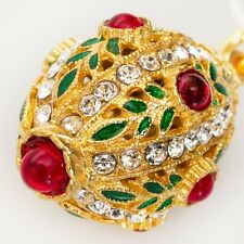 Faberge Egg Style Pendant Made with Swarovski Crystals Made in Russia
