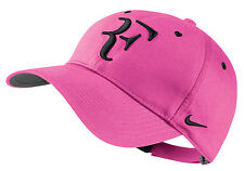 NEW Nike Hybrid RF Roger Federer Hat 371202-612 Hot Pink / Black Cap