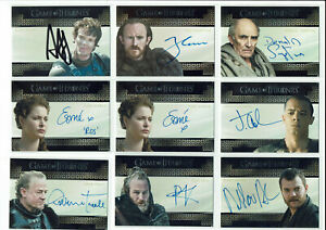 Game of Thrones Valyrian Autograph Trading Card Selection Various Seasons
