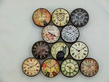 Set of 12 Vntage Style Clock Face Cabinet Knobs Drawer Knobs Kitchen Knobs