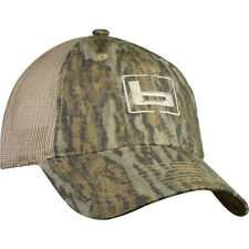 "Banded ""b"" Logo Mossy Oak Bottomland Btml Camo Trucker Twill Mesh Back Hat Cap"