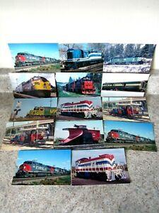 Lot of (14) Misc. Railroad Train Postcards, Standard Size, unused
