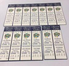Salt Lake Buzz Minor League Baseball 1994 Season Tickets Uncut