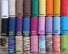 4 Spools x 205 ft per roll ~ 1mm Hemp Cord ~ Limited Colors ! Twine ~ Craft