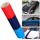 Stickers déco BMW M MOTORSPORT bande autocollant 3 couleurs 100cm x 10cm VYNIL