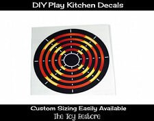 DIY Decal Sticker fits Generic Kitchen Burner Element Stovetop A - 4.5 inches