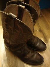 Ariat Brown Leather~ Cowboy Boots~ Western Style ~Men's 9 B GUC  114