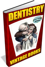 DENTISTRY - 85 VINTAGE BOOKS ON DVD - dentist,hygienist,dental,dentures,teeth