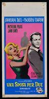 Plakat Ein Braut Für Zwei Sandra Dee Bobby Darin Presle Romero Lund Powers N31