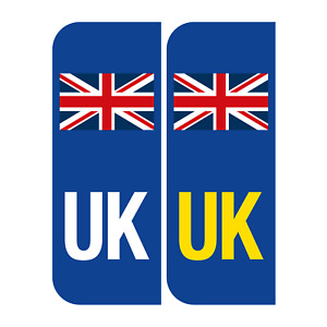 Pair of UK, Wales, England, SCO Number Plate Car Badge REFLECTIVE Vinyl Stickers