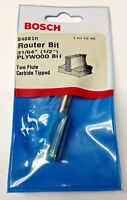 """Bosch 84601M 31/64"""" (1/2"""") Two Flute Carbide Tipped Plywood Router Bit USA"""
