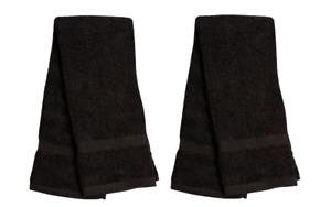 Black Plush Hand Dish Towels 2 pk Ultra Absorbent Soft 100% Cotton FREE SHIPPING