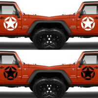 Set of 2 US U.S. America Army Military Armed Forces Star Vinyl Decal Sticker V6