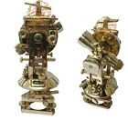 Antique Vintage Brass 8 Inch Theodolite With Beautiful Black Canvas Cover Replic