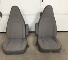 97-16 Chevy Express/GMC Savanna Van Pair LH & RH Gray Cloth Power Bucket Seats