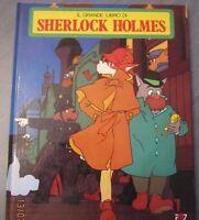 BOOK VINTAGE ANIME PAGOT,HAYAO MIYAZAKI ANNI 80, GRANDE LIBRO DI SHERLOCK HOLMES