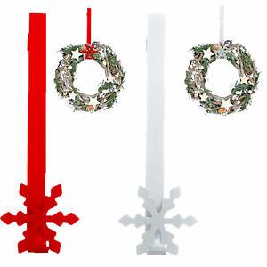Christmas Decoration - Wreath Hanger - 30cm Metal - Snowflake - Choose Colour