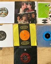 7 X Punk Vinyl Singles - Clash / Pistols / Gen X / Electric Chairs / Vibrators