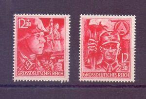 Deutsches Reich 1945 - Die beiden letzten Marken 909/910 - Michel 80,00 € (891)