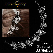 Crystal bead and diamantee hair jewellery wedding headpiece silver bridal tiara