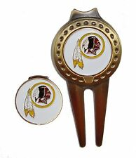 Washington Redskins Hat Clip & Divot Tool with Golf Ball Marker Combo