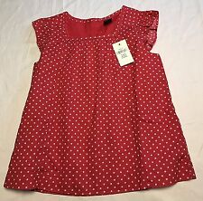 New NWT Baby Gap Red White Stars Cap Sleeve Tank Top Short Shift Dress Size 3T