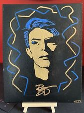 "Funky David Bowie Original Abstract Paint Art 8"" X 10"" Portrait on Canvas Panel!"
