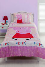 Peppa Pig Duvet | Doona Quilt Cover Set | Vintage Pink | US Full | Double