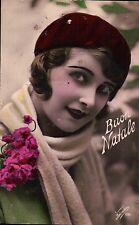 """CARTOLINA AUGURALE """" BUON NATALE """" DA ONZO PER MILANO 1929 - C10-766"""