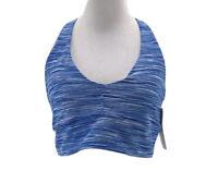 Gap Fit Women's Blue Space Dye Athletic Sports Bra Size Medium NEW