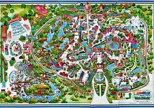 1983 ASTROWORLD Map REPRODUCTION POSTER 24 X 36 Inches Nostalgia HOUSTON