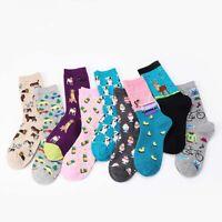 Style Creative Jacquard Women Cotton Stocking Socks Novelty Pattern Funny Art