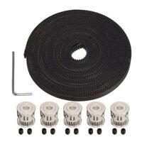 """5pcs GT2 20T 5mm Bore 6mm Width Pulley+16'5"""" GT2 Timing Belt  3D Printer Reprap"""