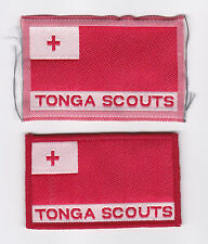 SCOUTS OF TONGA - NATIONAL SCOUT FLAG EMBLEM PATCH (2 VAR.)