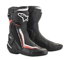 Alpinestars SMX Plus V2 Boots Schwarz Weiß Rot Fluo Gr. 42 Motorradstiefel