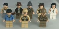 LEGO Indiana Jones Job Lot Marion Ravenwood  Satipo Jock Rene Belloq Henry Jones
