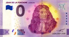 37 DESCARTES Jean de la Fontaine - Le fabuliste, 2021, Billet Euro Souvenir