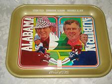 1975 BEAR BRYANT/JORDAN ALABAMA FOOTBALL AUBURN SEC COCA COLA METAL SERVING TRAY
