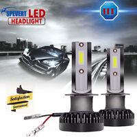 2x 110w H1 COB luz LED Mini Coche Faros Kit Conducción Bombillas 6000k CANBUS
