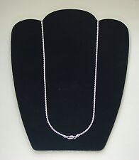 "24"" Sterling 2.5mm D C Rope Necklace"