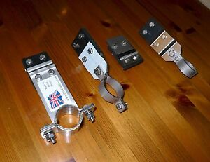 """Exhaust Mounting Stainless Full Kit Land Rover Series 2 & 3 109""""  LWB LHD 4 cyl"""