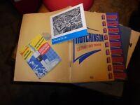 Ancien Catalogue Productions Hutchinson et Avis de Passage Usine Langlée 1953